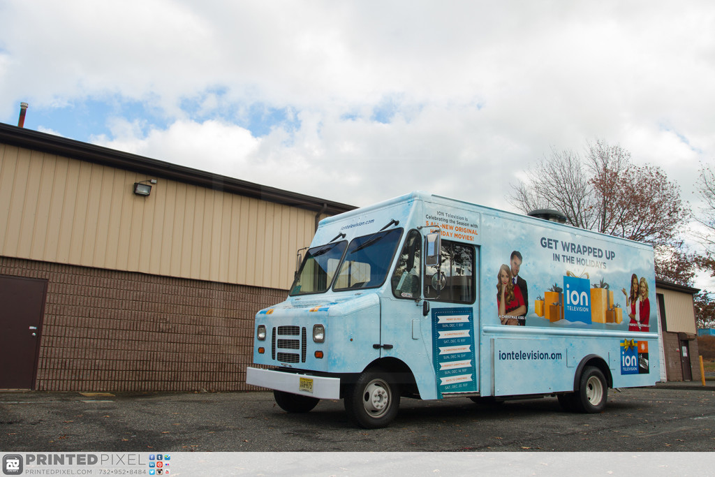 ION Television - Get Wrapped Up, driver side 3/4 view of truck