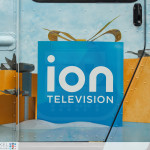 ION Television - Get Wrapped Up, close-up of ION logo on doors