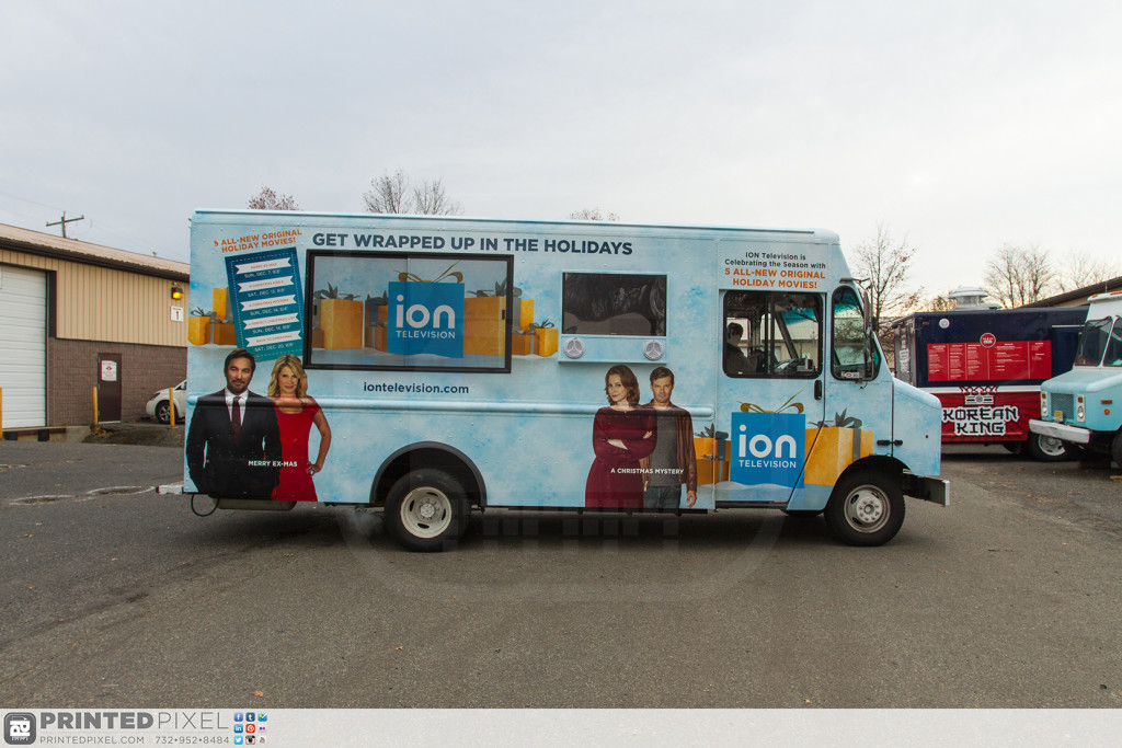 ION Television - Get Wrapped Up, passenger side of truck without awning installed