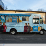 ION Television - Get Wrapped Up, passenger side of truck with new awning installed