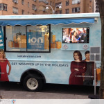 ION Television - Get Wrapped Up, on the streets of New York City, a good example of window perf film