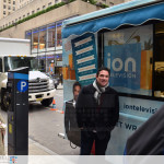 ION Television - Get Wrapped Up, actor Dean Cain posing with truck to promote TV series