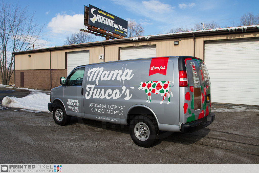 Mama Fuscos van 3/4 driver side view.