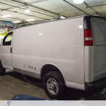 A fantastic before shot of Mama Fuscos van when it was still white before the vehicle wrap.