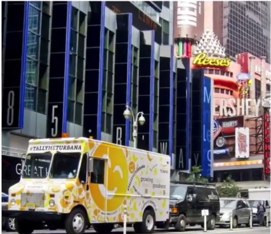 The #TallyMeTurbana food truck was a focal point of Turbana's experiential campaign.