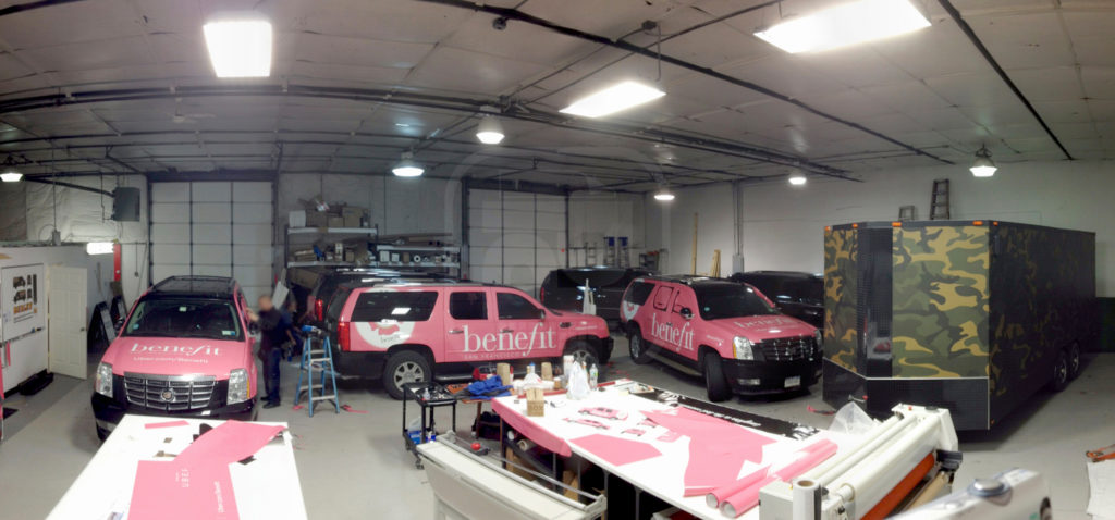 Printed Pixel install bays and inside facility during a 24 hour turn around of installations.