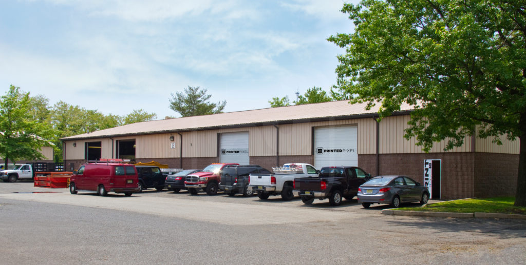 Exterior of Printed Pixel in South Amboy New Jersey 08879 located off of Washington Avenue in the Gillette Industrial Park.