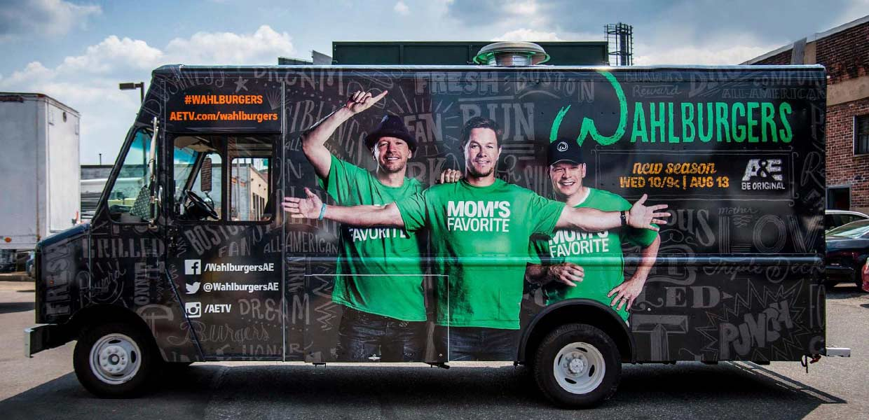 Wahlburgers experiential activation.