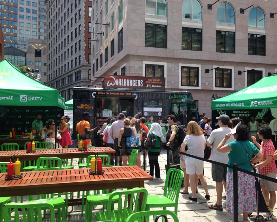 Wahlburgers experiential activation with a promotional food truck